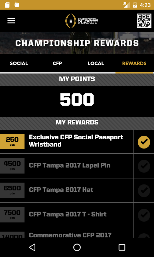 CFP Social Passport- screenshot