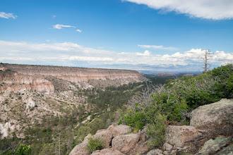 Photo: Looking up Pueblo Canyon toward the Sangre de Cristo Mtns.