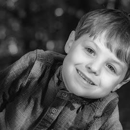 Logan by Barry Smith - Babies & Children Child Portraits ( son, children, monochrome, black and white, portrait,  )