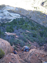Photo: Ed and Luba on the descent