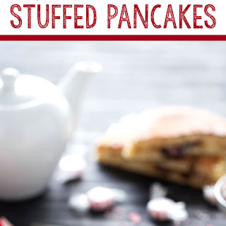 Peppermint Hot Chocolate Stuffed Pancakes