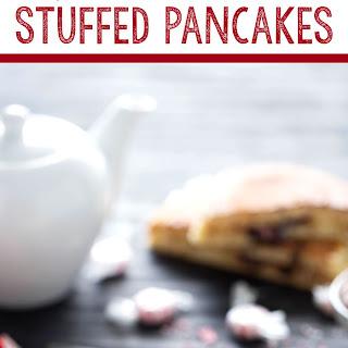 Peppermint Hot Chocolate Stuffed Pancakes.