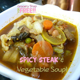 Spicy Steak & Vegetable Soup!