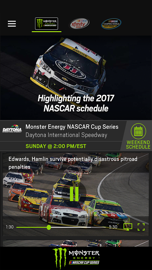 Screenshots of NASCAR MOBILE for iPhone
