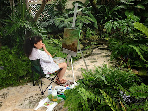 Photo: Ellen painting in the Gardens 12-12-13