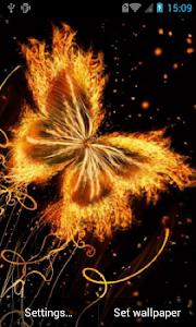 Magic butterfly live wallpaper screenshot 0