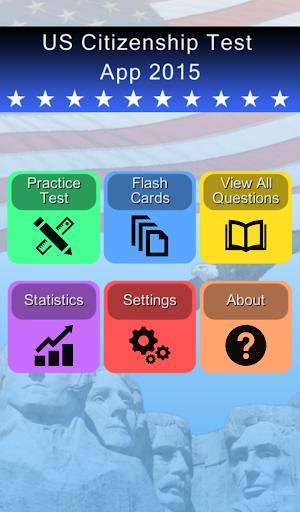 US Citizenship Test App 2015