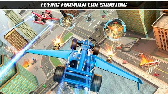 Formula Robot Car Game : Flying Car Robot Games 2