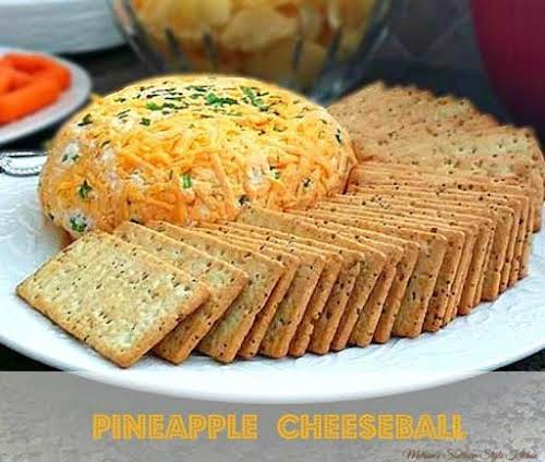 "Pineapple Cheese Ball ""This cheese ball can be made into 1 large..."