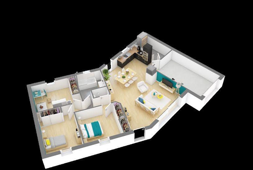 Vente Terrain + Maison - Terrain : 1200m² - Maison : 83m² à Candé (49440)