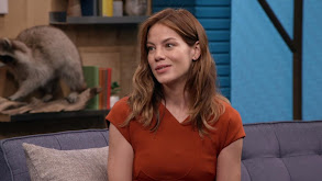 Michelle Monaghan Wears a Burnt Orange Dress and White Heels thumbnail