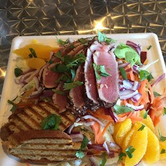 Citrus salad with seared ahi.