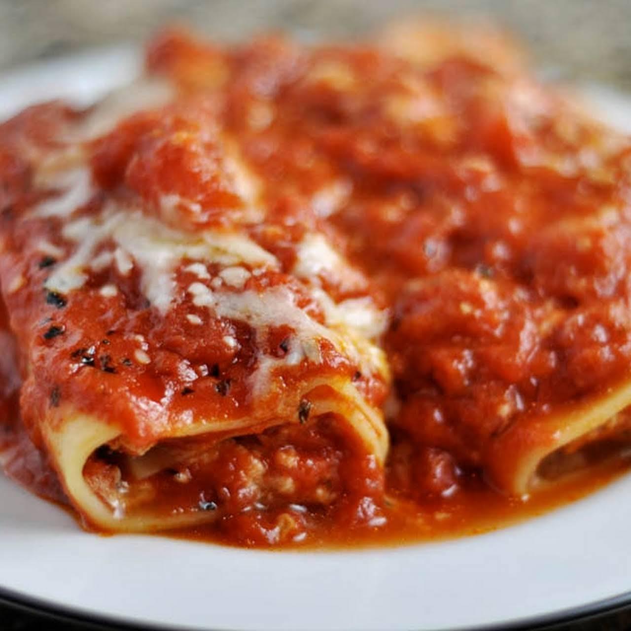 Borgatti's Manicotti  in the manner of Marinara Sauce