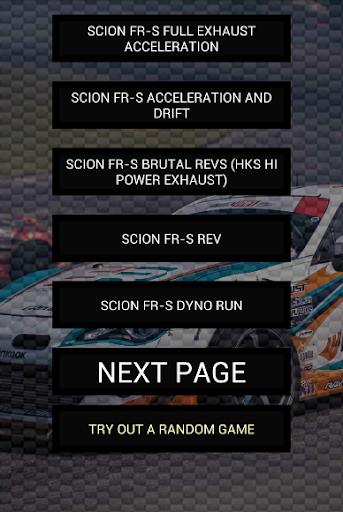 Engine sounds of FR-S
