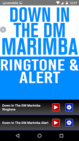 android Down In The DM  Marimba Tone Screenshot 0