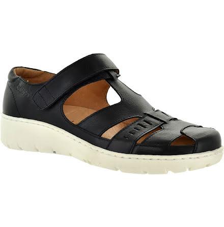 Kia svart sandal med kardborre