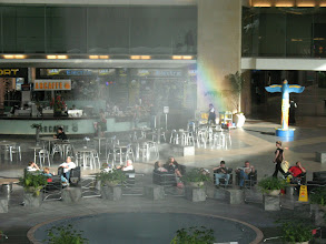 Photo: A rainbow in the Ben Gurion Airport Departure Hall!