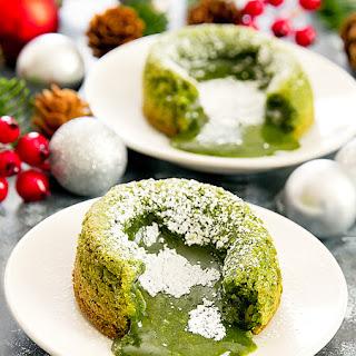 Matcha Green Tea Molten Lava Cakes.