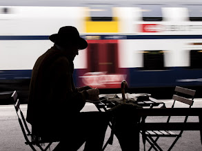 Photo: waiting for the train - color edition a special color edition for +Barbara Willi . Wich one do you prefer?