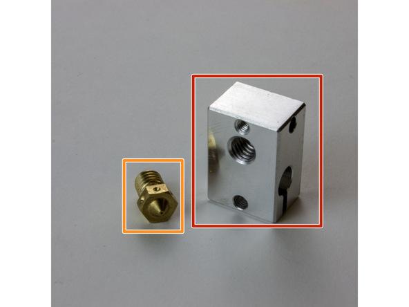 Figure 1:  E3D Nozzle and Heater Block