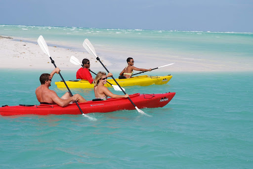 Take a kayak out for a spin during a glorious tropical day on Grand Bahamas Island.