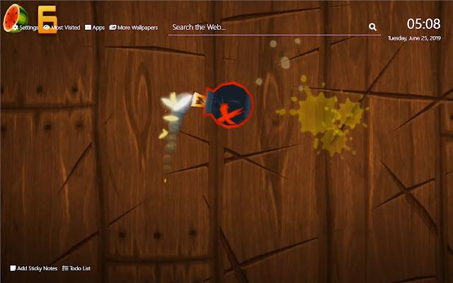 Fruit Ninja Wallpaper HD New Tab Theme