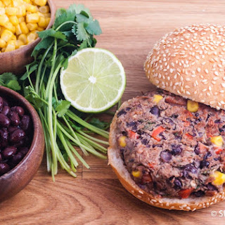 Black Bean Lime Burgers.