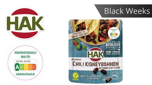 Bild für Cashback-Angebot: Black Weeks:                                                                    HAK Fertiggerichte Chili-Kidneybohnen - Hak