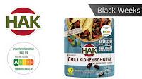 Angebot für Black Weeks:                                                                    HAK Fertiggerichte Chili-Kidneybohnen im Supermarkt
