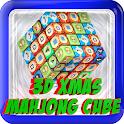 3d XMAS Mahjong Cube tile game icon