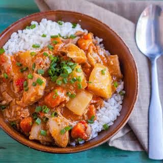 Slow Cooker Massaman Chicken Curry.