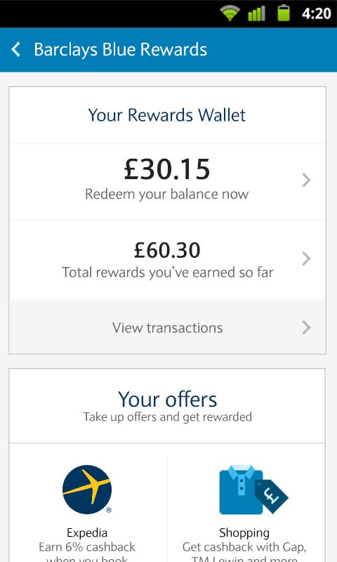 Barclays Mobile Banking- screenshot