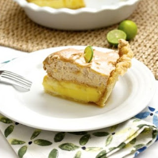 Key Lime Pie with Brown Sugar Italian Meringue