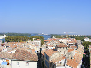 Photo: And here, the view to the seemingly ever-present Rhône river.