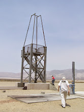 Photo: Vertical static rocket test stand at FAR