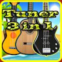 tuner 3in1 guitar bass ukulele icon