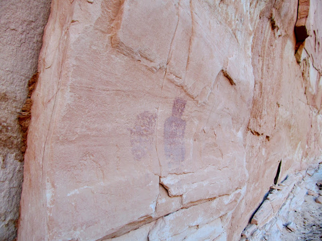 More pictographs, one headless and one with head