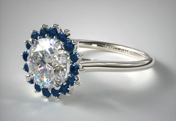 Blue Sapphire Pavé Sunburst from James Allen