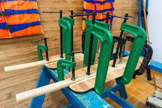Photo: the blades and handles are glued