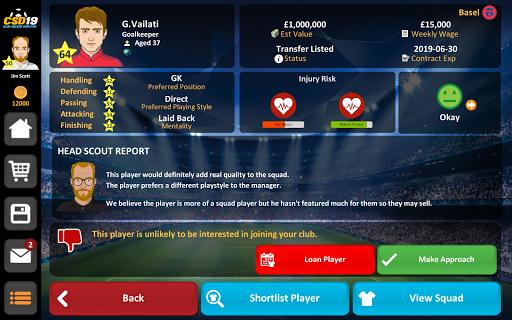 Club Soccer Director 2019 - Soccer Club Management 2.0.25 screenshots 19