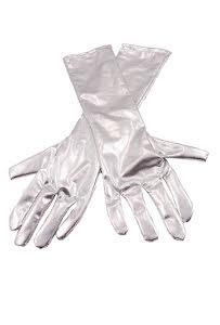 Handskar,  silvermetallic
