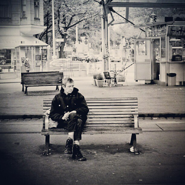 Patience is a virtue #streetphotography  #bench #city  #instagram #wien by Alex Cruceru - Instagram & Mobile Instagram
