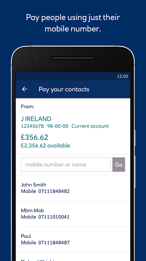 Ulster Bank NI- screenshot
