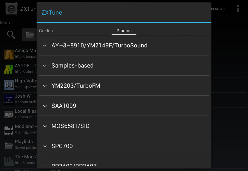 ZXTune - Chiptunes player- screenshot