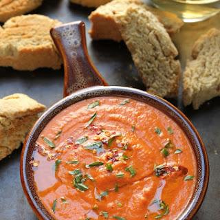 Creamy Tomato and Tarragon Soup with Black Pepper Parmesan Biscotti Recipe