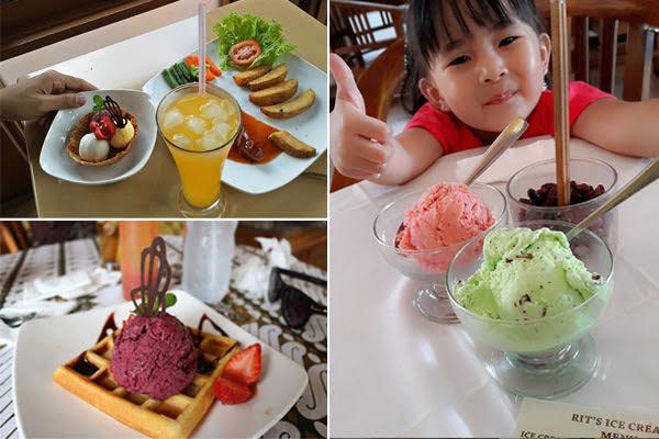 Menu Rit's Ice Cream Bandung