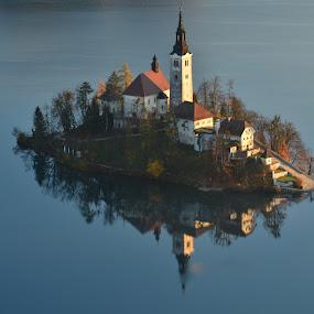 Odsev v jezeru by Bojan Kolman - Buildings & Architecture Other Exteriors (  )