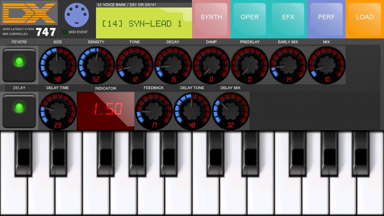 Synth DX 747- screenshot