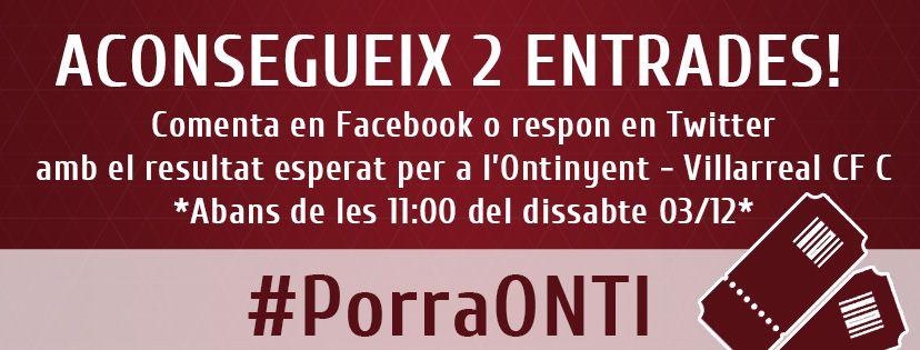 Ontinyent CF #PorraOnti Villarreal C