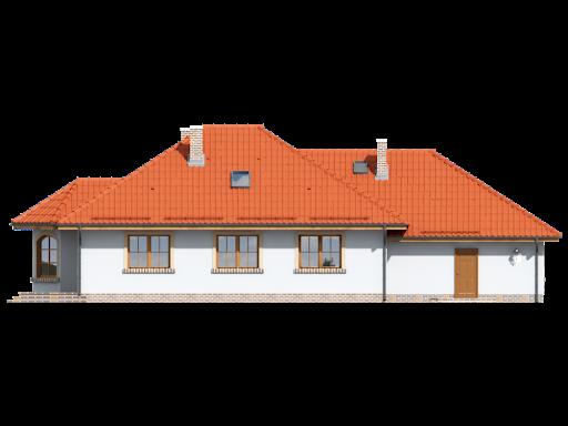 Zadębie średnie 4 + garaż - Elewacja tylna